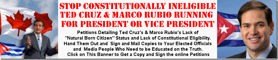 Cruz and Rubio Not Eligible Banner
