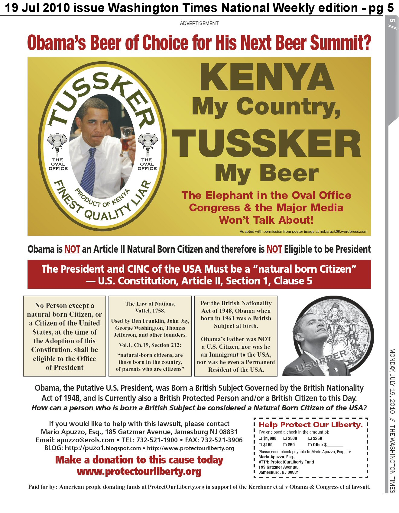 Kenya My Country, Tussker My Beer