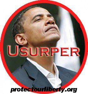 Obama Usurper Horizontal with URL