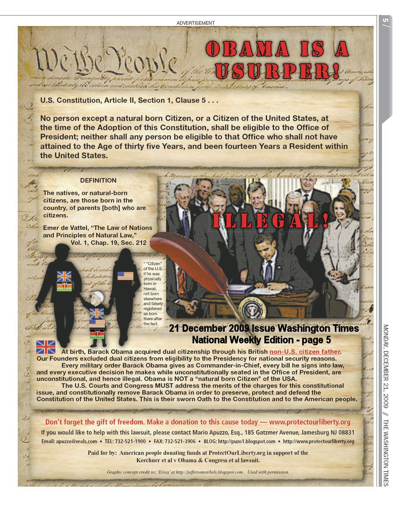 Illegal Putative President