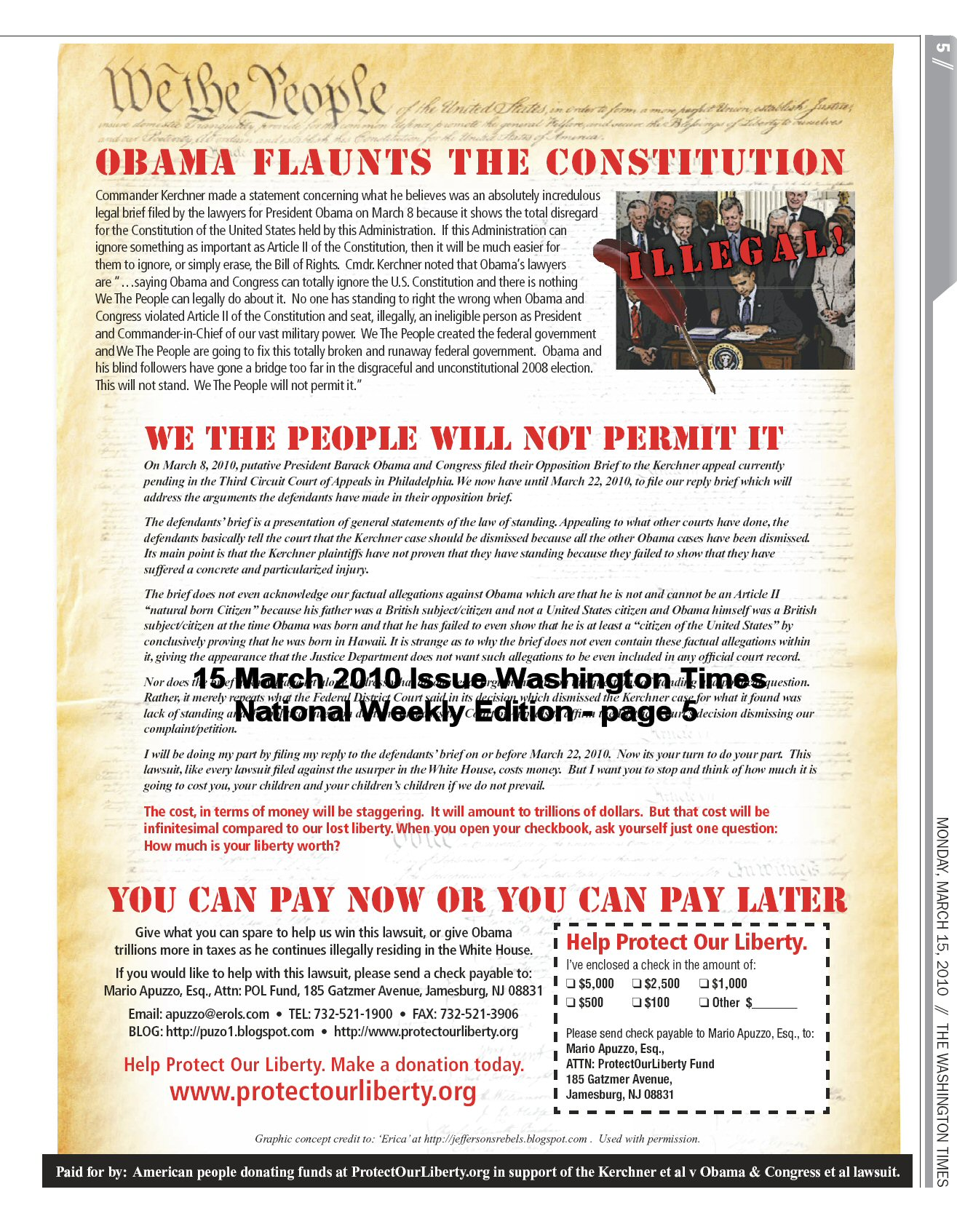 Obama Flaunts Constitution