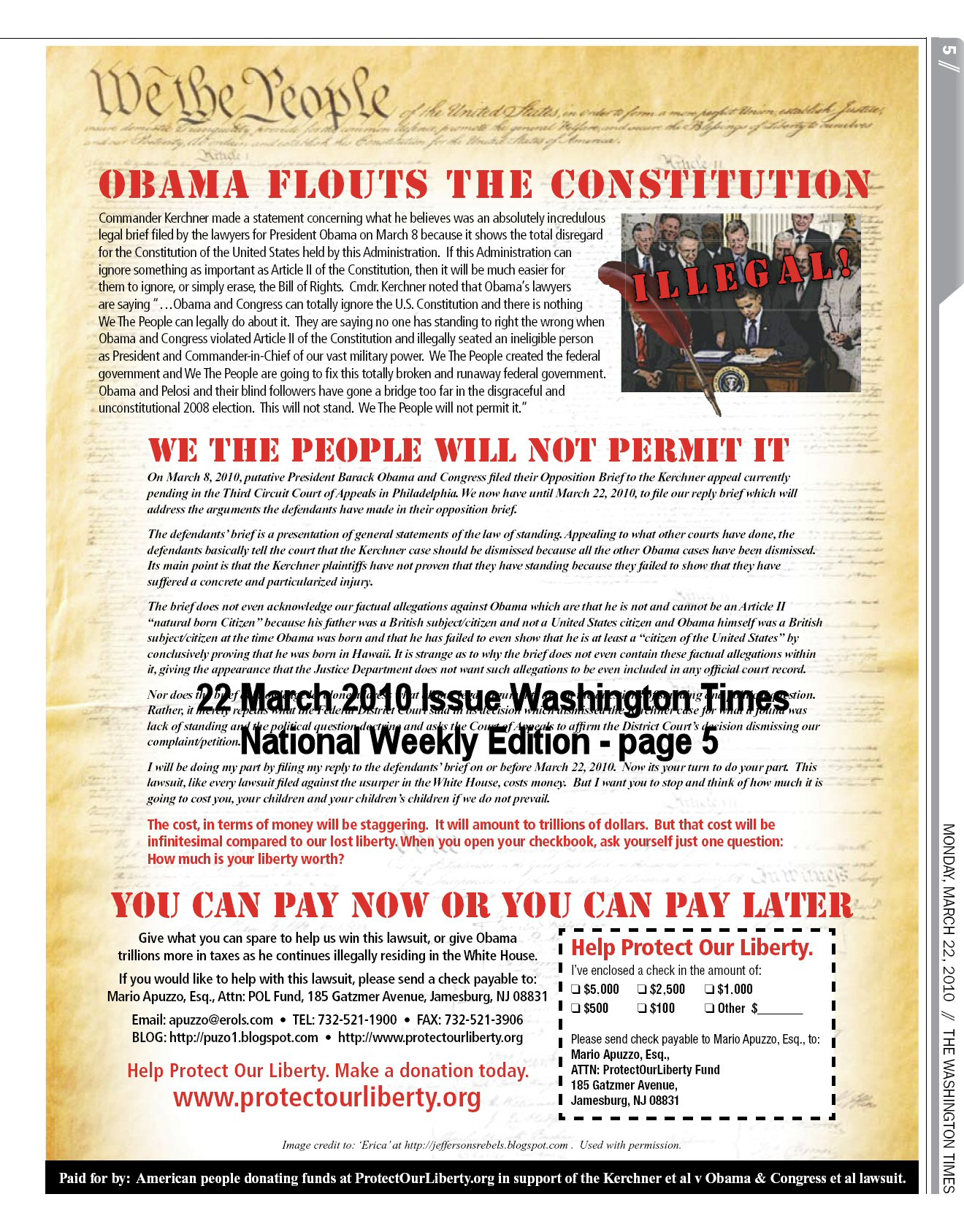 Obama Flouts Constitution