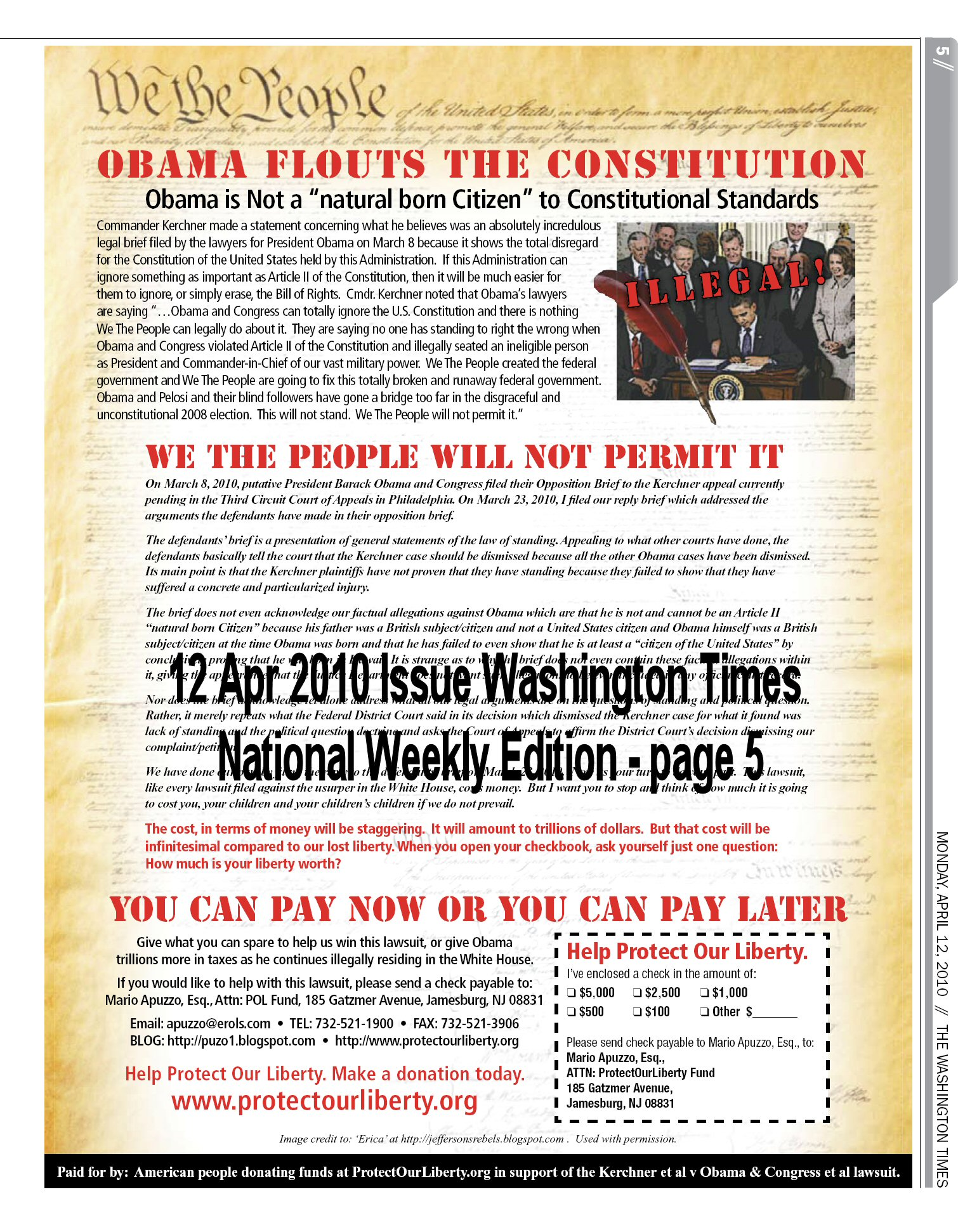 Obama Flouts the Constitution
